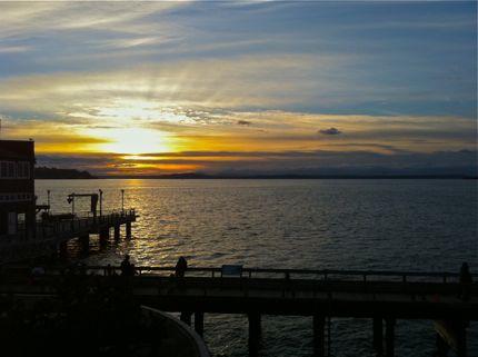 Inspiring Moment Seattle Aquarium Sunset 2