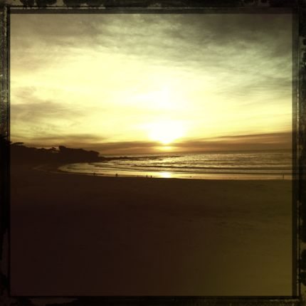 Inspiring Moment: Carmel Beach at Sunset photo