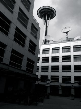 Inspiring Moment: Space Needle in Stark Black and White