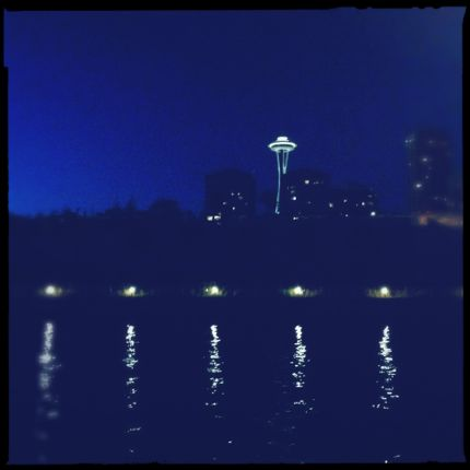Inspiring Moment: Seattle Space Needle Nighttime