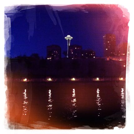 Inspiring Moment: Seattle Space Needle by Night