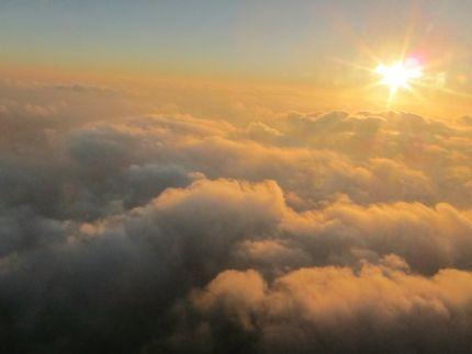 Inspiring moment clouds sunburst photo
